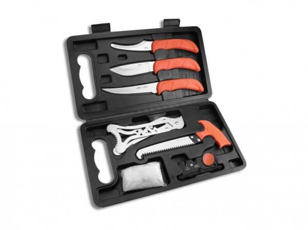 Feststehendes Messer, Orange, 420J2, TPR