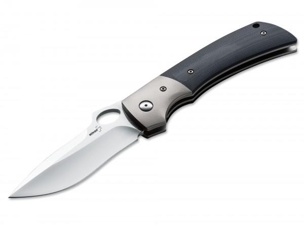Taschenmesser, Schwarz, Daumenöffnung, Linerlock, VG-10, G10
