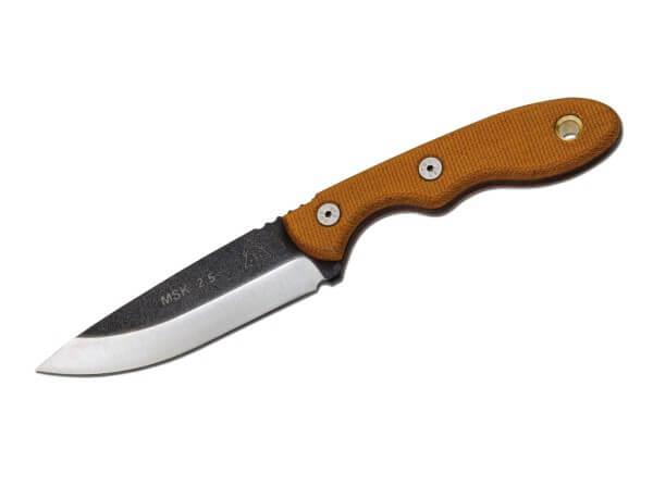 Feststehendes Messer, Orange, Feststehend, 1095, Micarta