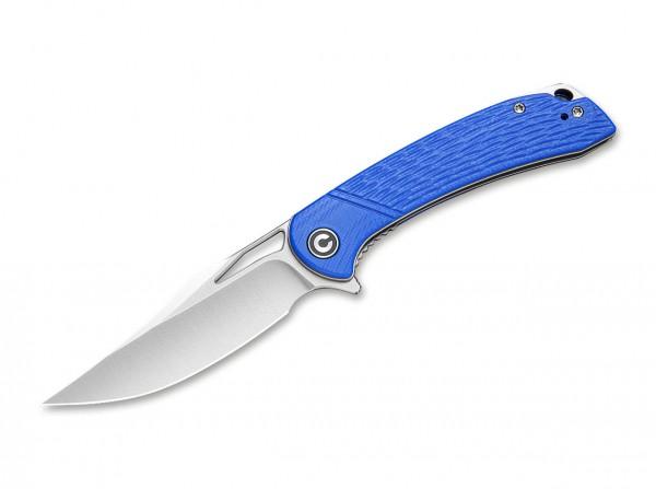 Taschenmesser, Blau, Flipper, Linerlock, D2, G10