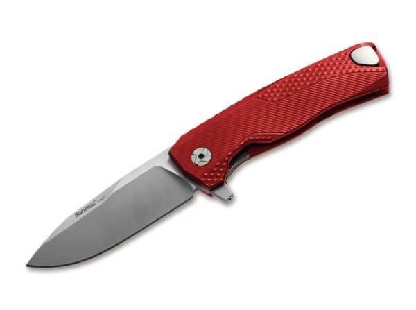 Taschenmesser, Rot, Flipper, Framelock, M390, Aluminium