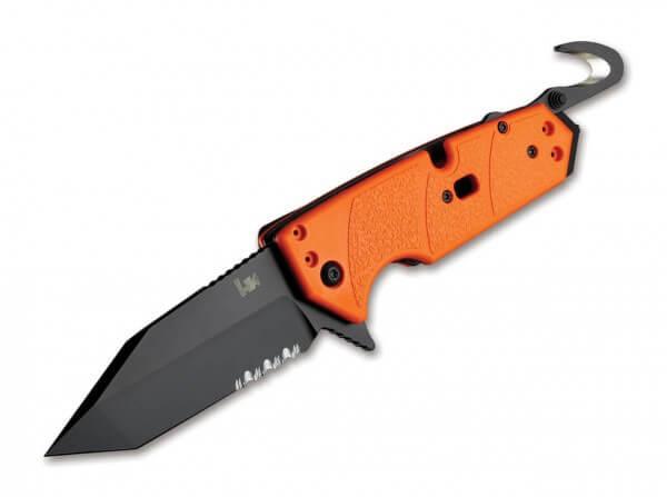 Taschenmesser, Orange, Flipper, Linerlock, 154CM, G10