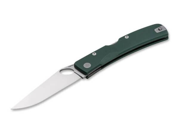 Taschenmesser, Grün, Daumenöffnung, Backlock, D2, G10