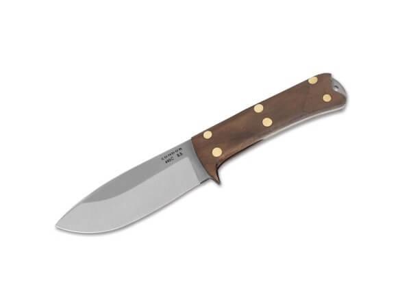 Feststehendes Messer, Braun, Feststehend, 440C, Walnussholz