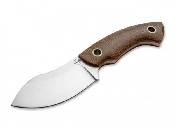 Feststehendes Messer, Braun, D2, Micarta