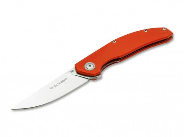 Taschenmesser, Orange, Flipper, Linerlock, M390, G10