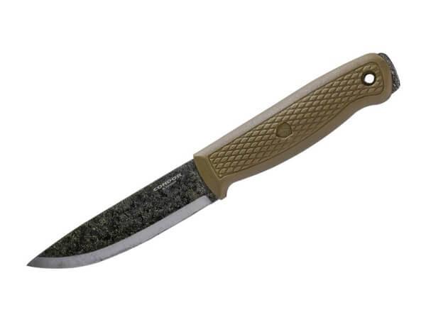 Feststehendes Messer, Khaki, Feststehend, 1095, Polypropylen