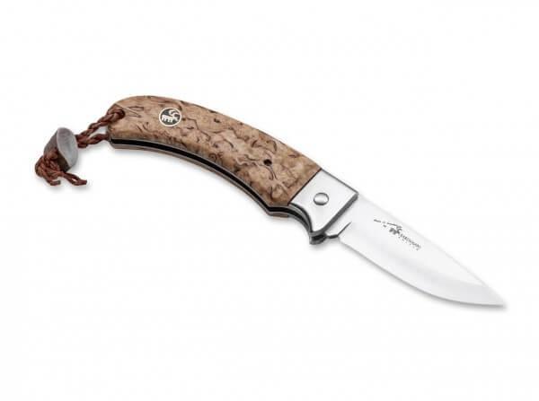 Taschenmesser, Braun, Nagelhau, 12C27, Maserbirkenholz