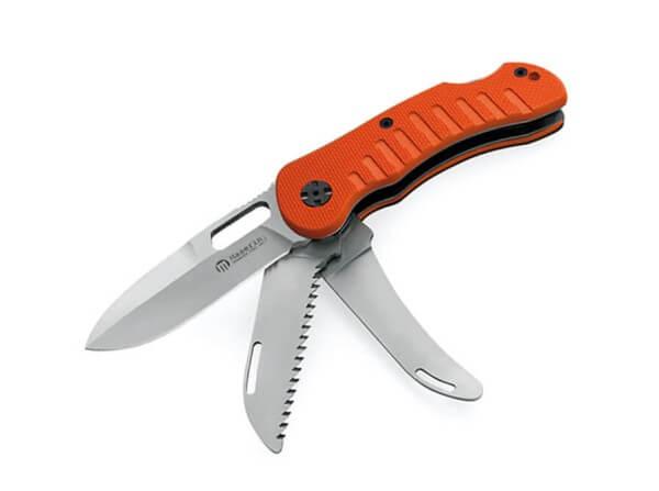 Taschenmesser, Orange, Daumenöffnung, Backlock, 440C, G10