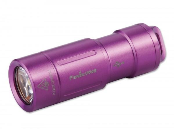 Taschenlampe, Violett, Aluminium