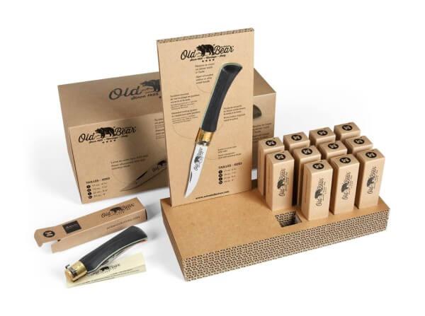 Taschenmesser, Schwarz, Nagelhau, Twist Lock, 420, Schichtholz